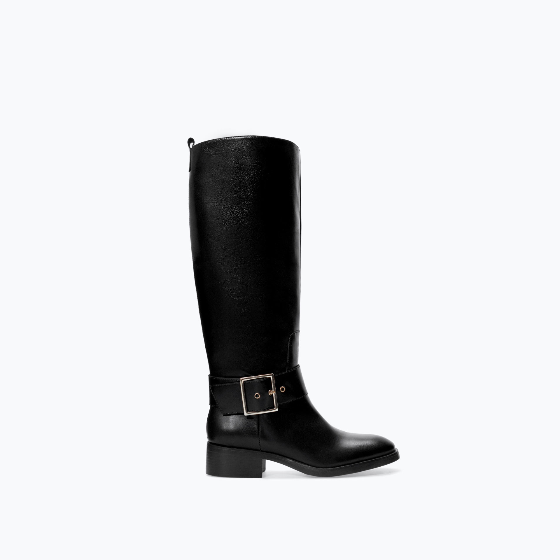 zara leather boot in black lyst