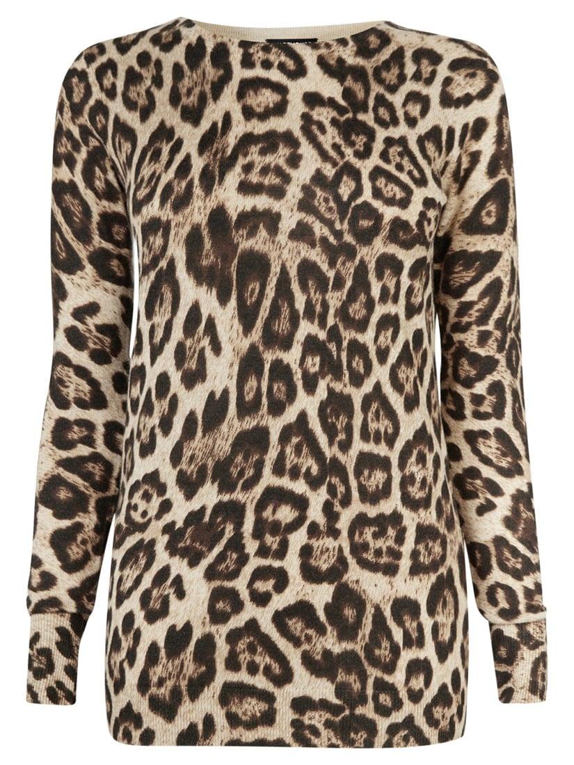Warehouse Leopard Print Jumper