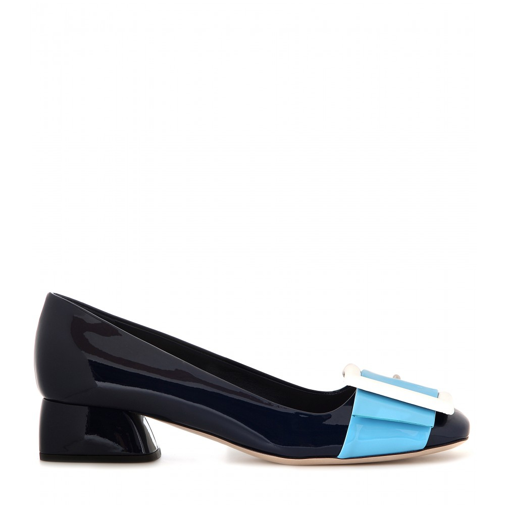 supply cheap price fake sale online Miu Miu Square-Toe Buckle Pumps free shipping classic XJPXrQ