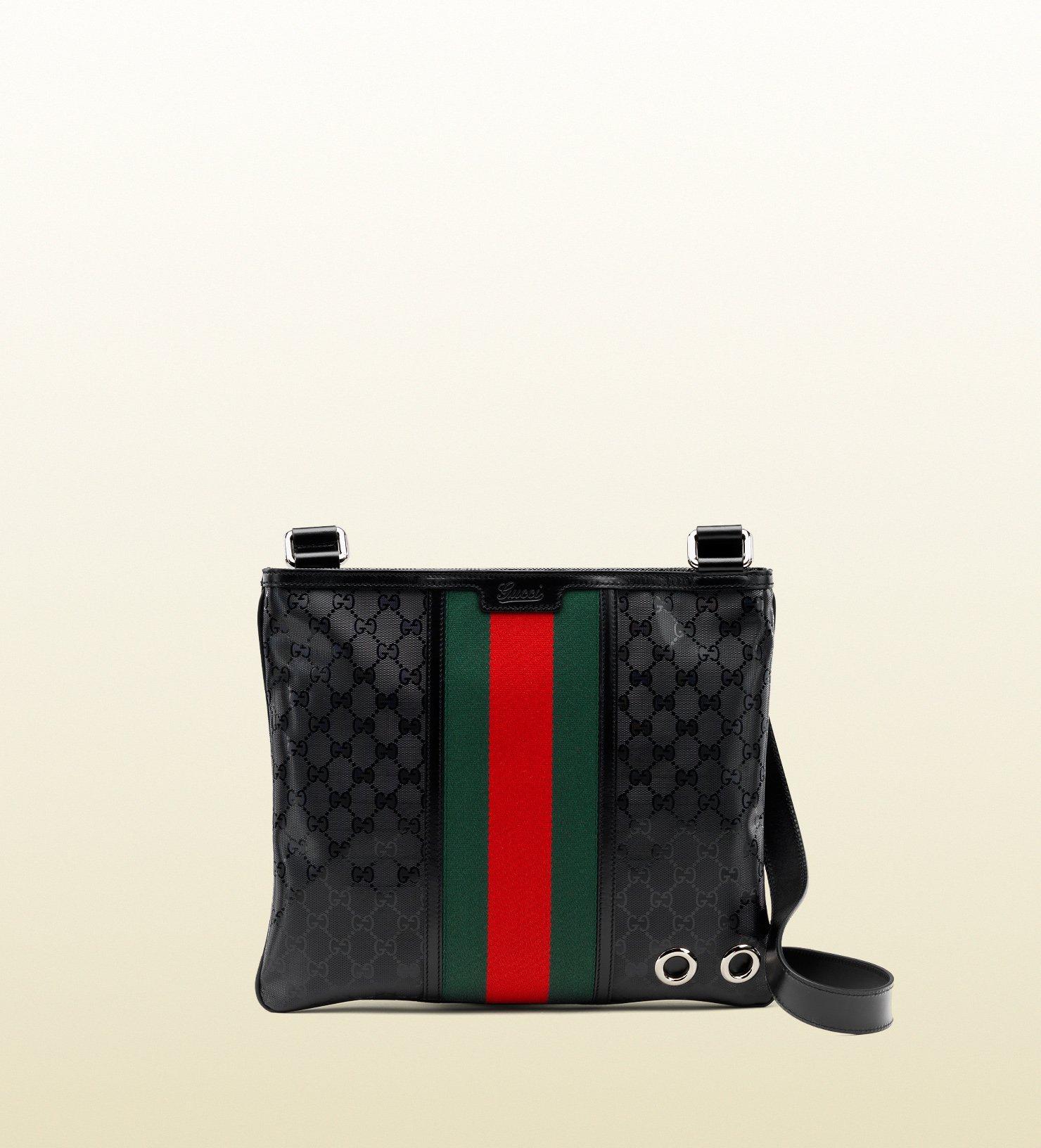 bf8101bfc Gucci 500 By Gg Imprimé Messenger Bag in Black for Men - Lyst