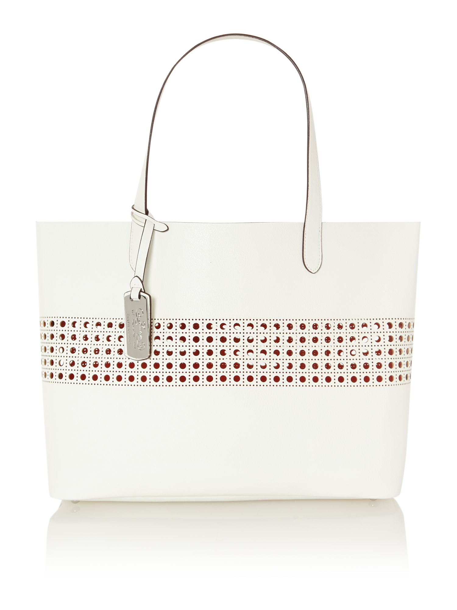 Lauren By Ralph Leighton White Large Tote Bag In Lyst