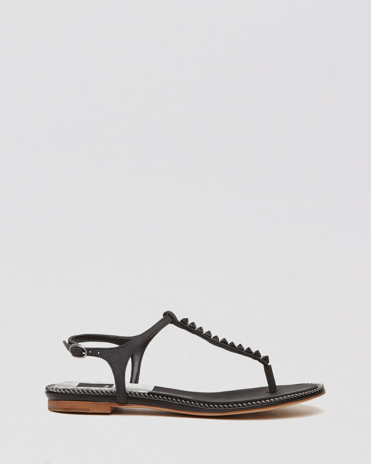 5bac93cc0 Lyst - Dolce Vita Flat Thong Sandals Ensley Studded T Strap in Black