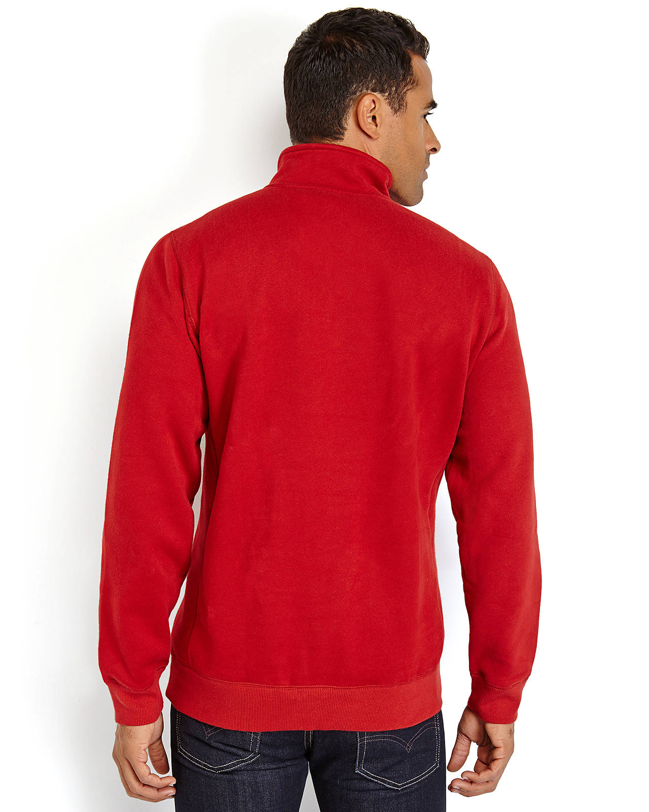 Izod Embroidered Logo Quarter-Zip Sweater in Red for Men | Lyst