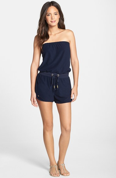Lyst Lilly Pulitzer Dixon Terry Romper In Blue