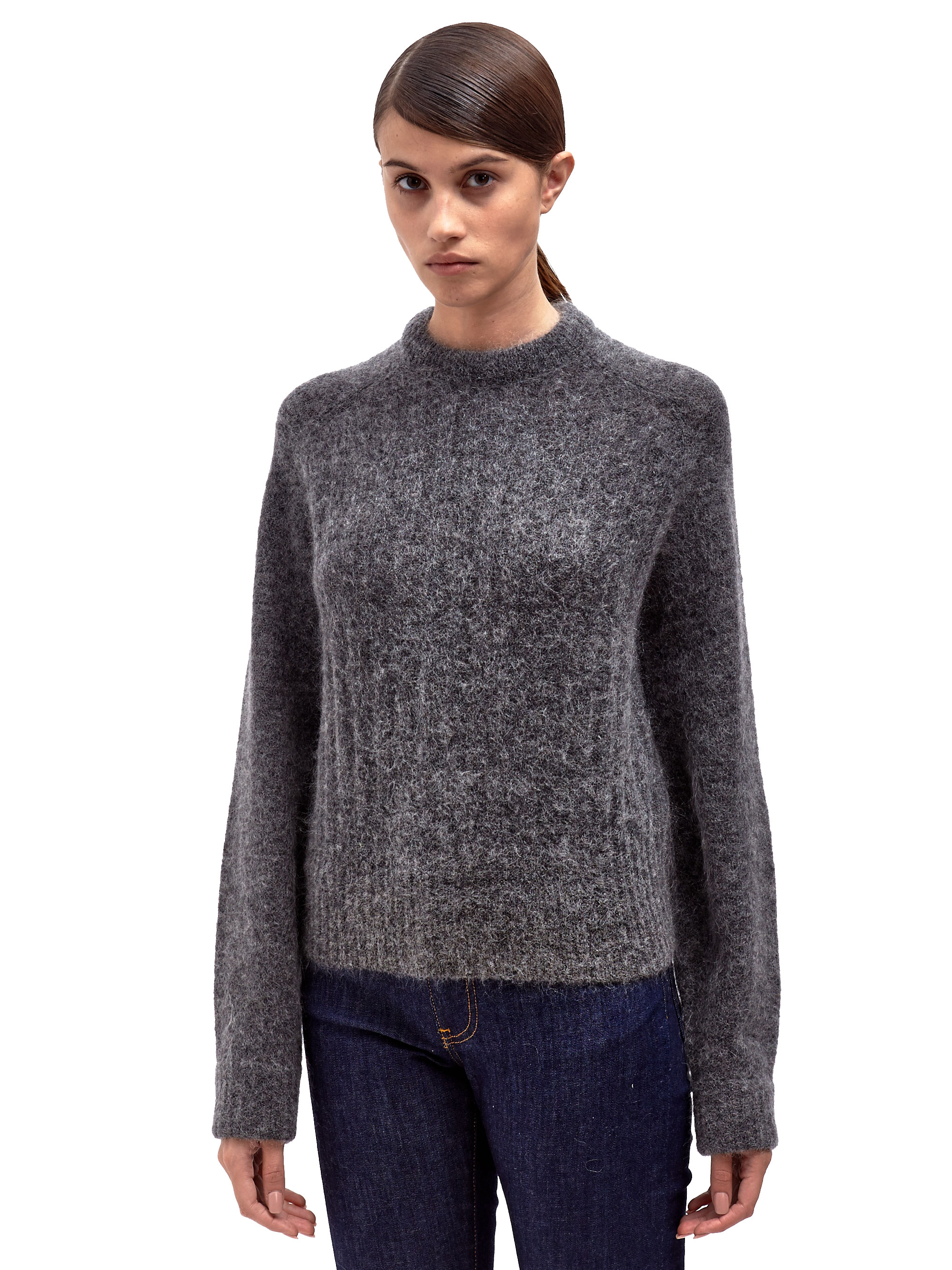 lyst acne studios womens dania mohair sweater in gray. Black Bedroom Furniture Sets. Home Design Ideas