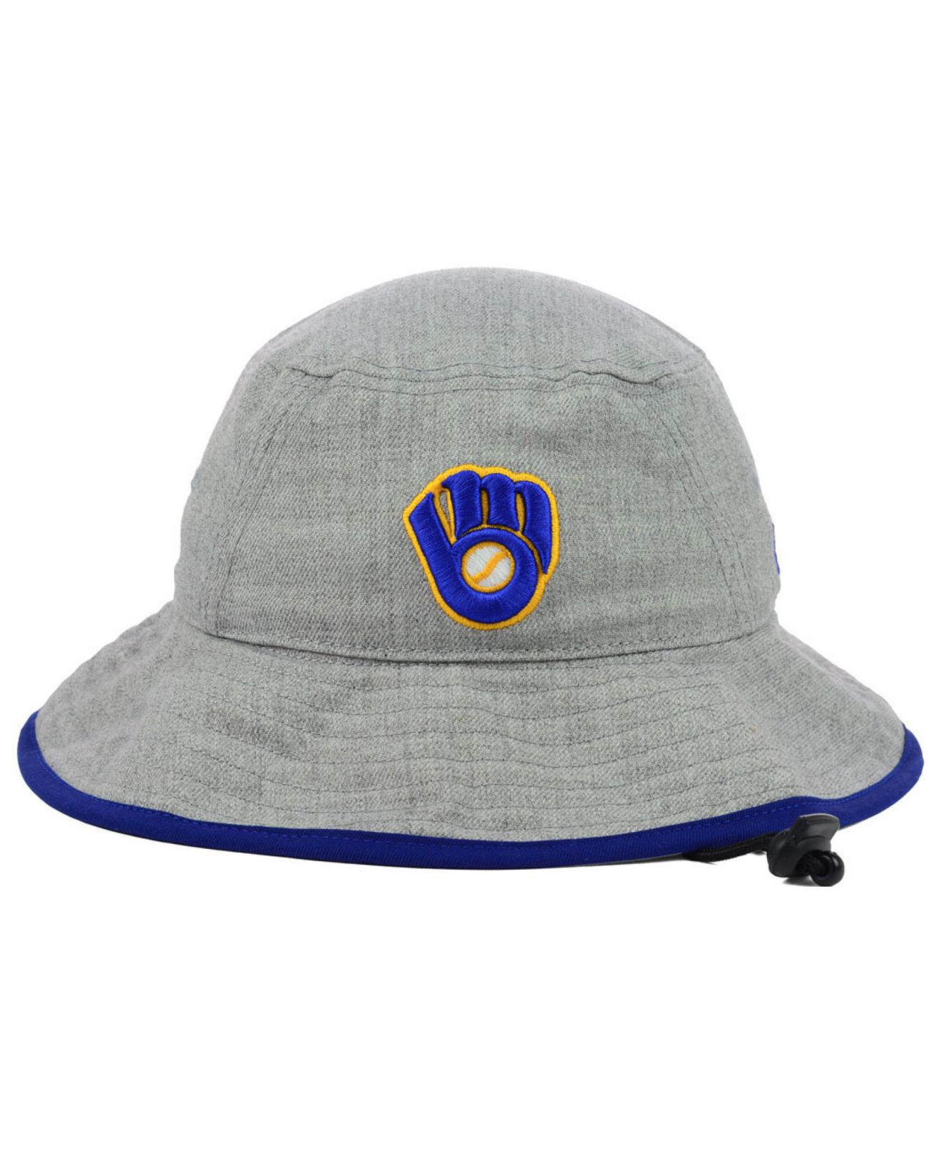 Lyst - KTZ Milwaukee Brewers Heather Tipped Bucket Hat in Gray for Men a75863e436c