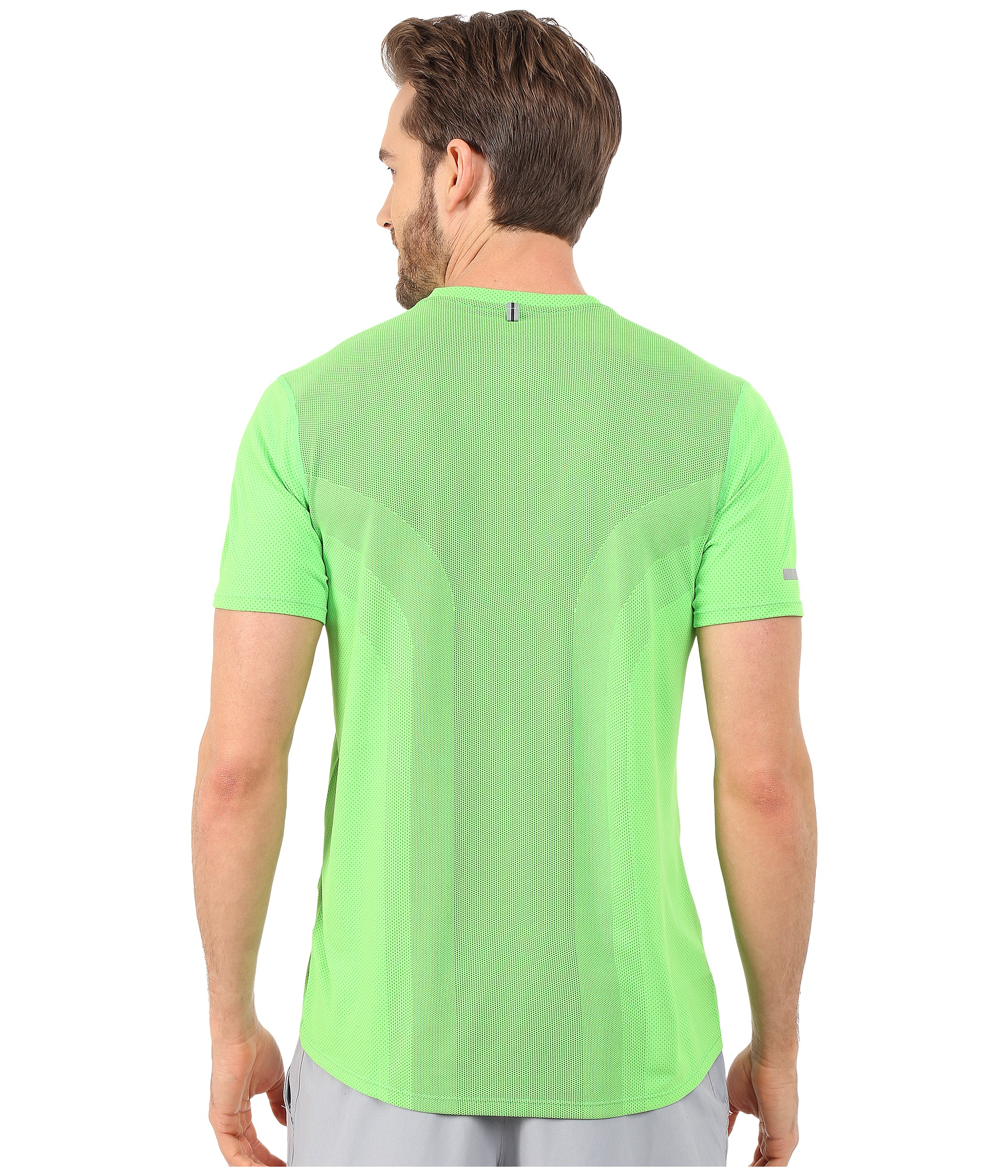 422577d87081 Lyst - Nike Dri-fit™ Contour S s Shirt in Green for Men