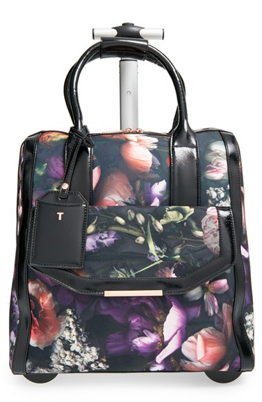 Lyst Ted Baker Shadow Flora Travel Bag In Gray
