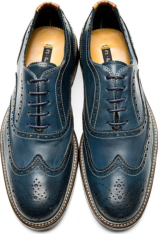 Ps by paul smith Navy Knight Oxford Brogues in Blue for Men | Lyst