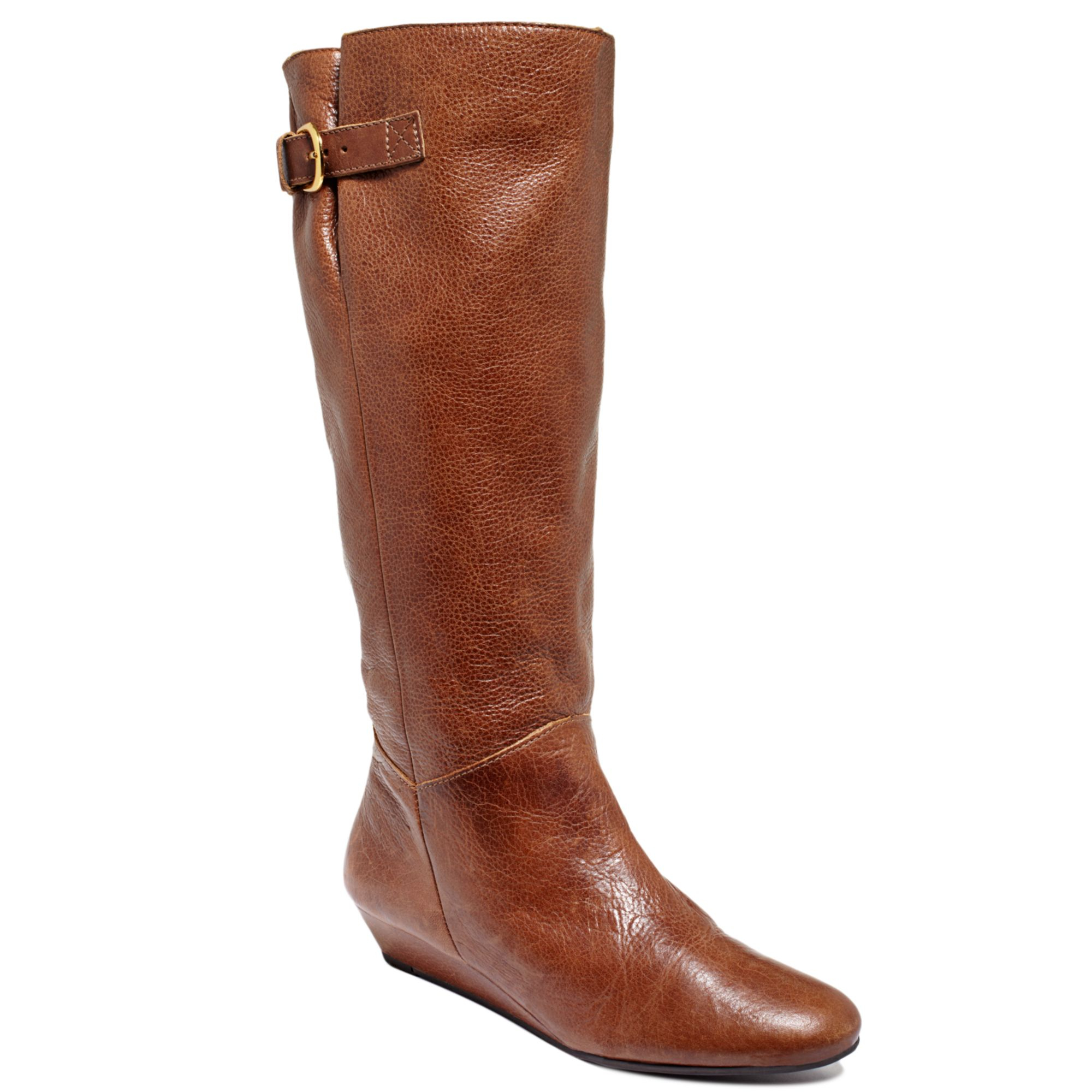 steve madden intyce tall boots in brown cognac lyst