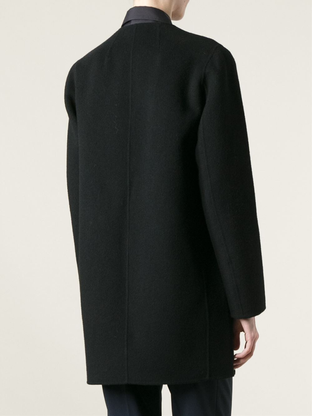 Theory Nyma Coat In Black Lyst
