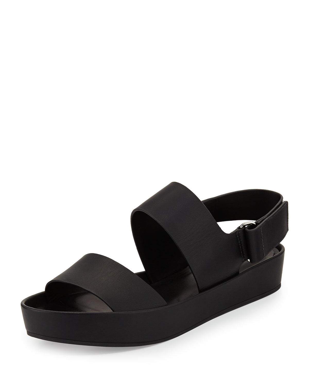0a45ec7171dc Lyst - Vince Marett Leather Platform Sandal in Black