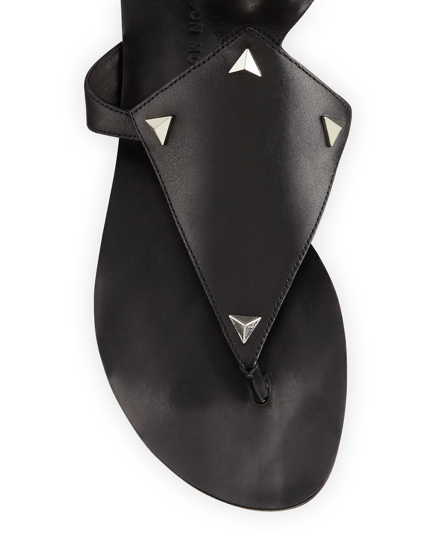 0f59de08c68c Lyst - Sigerson Morrison Basper Studded Knee-high Gladiator Sandal in Black