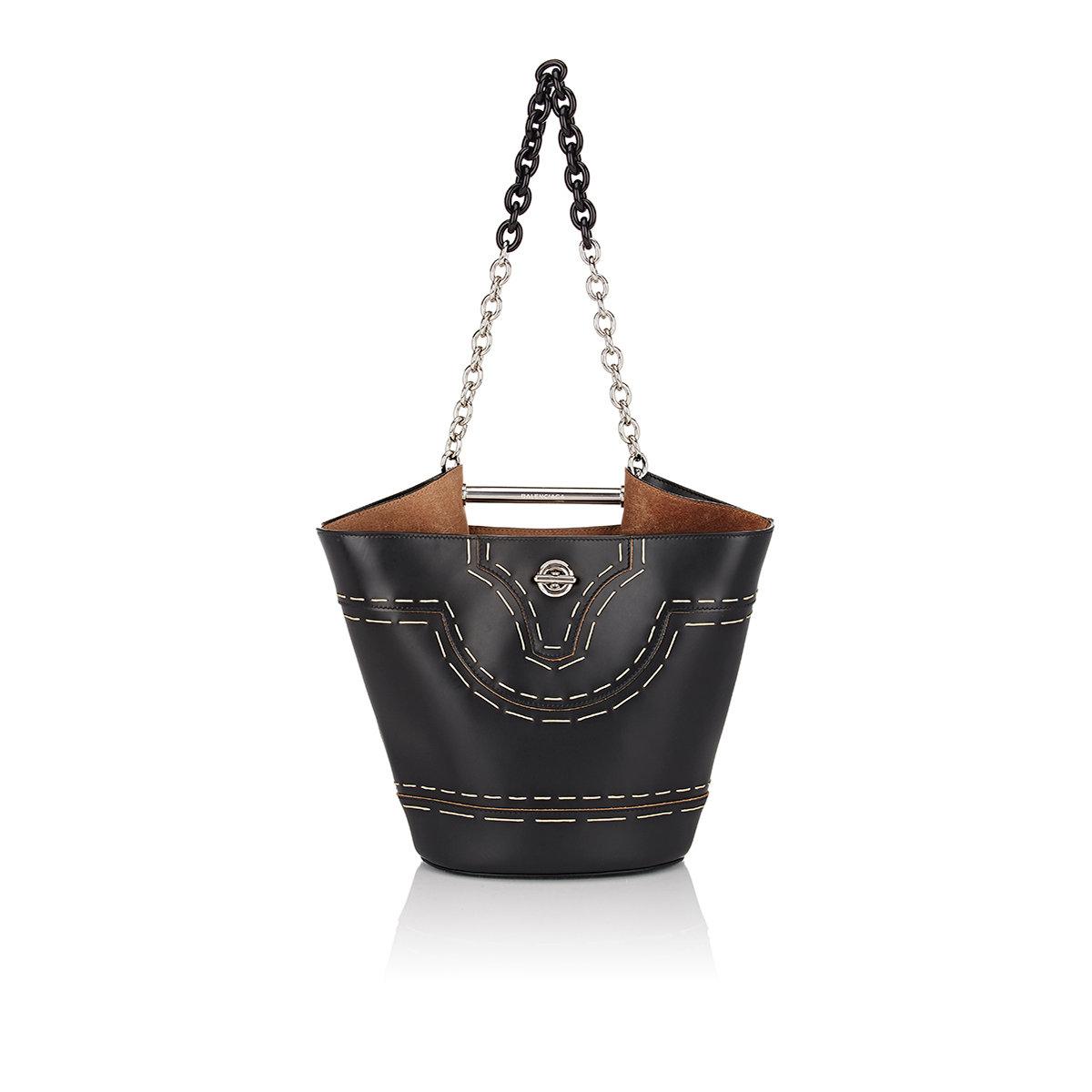 ba54d8f5d Lyst - Balenciaga Mini Bucket Bag in Black