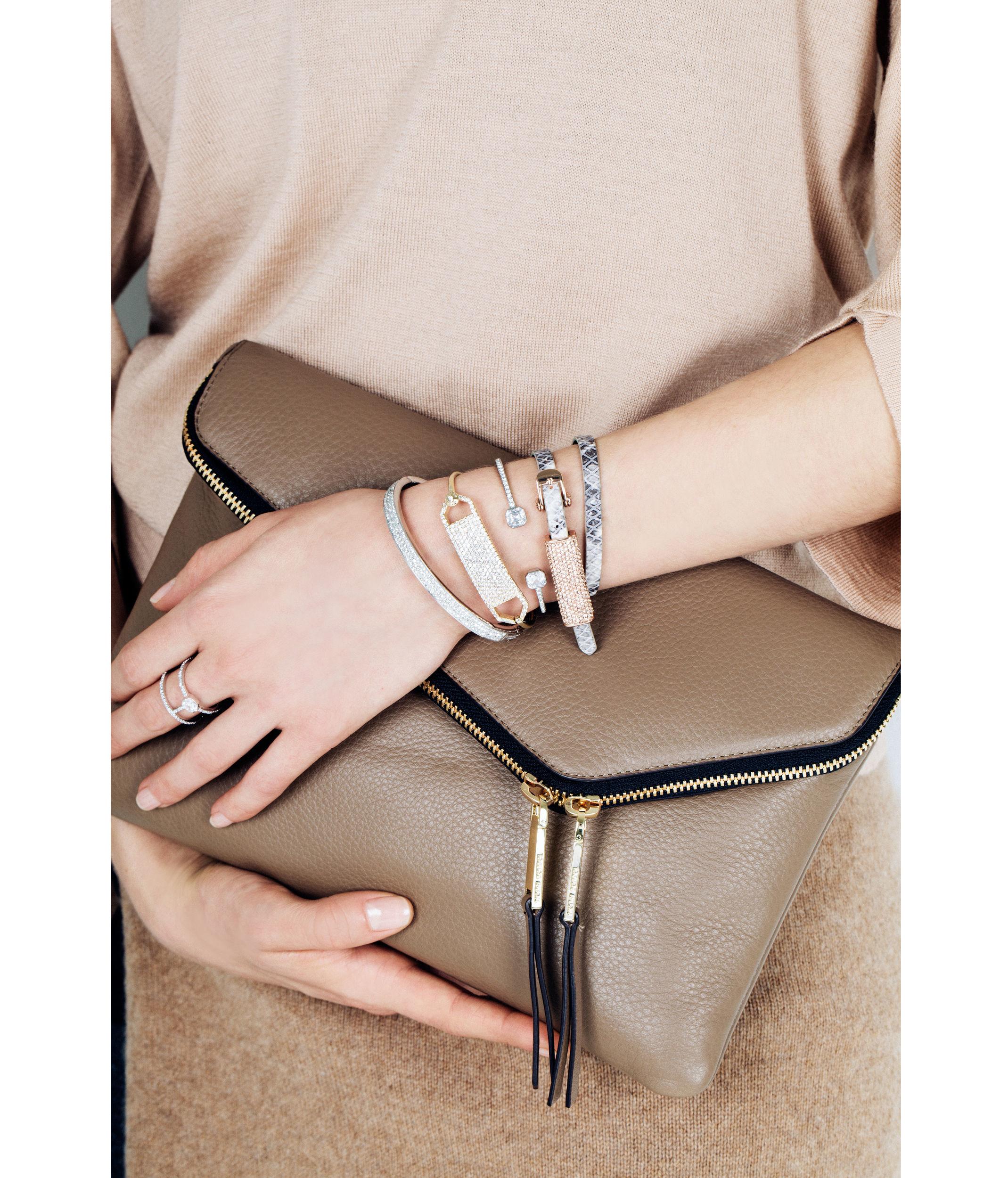 Lyst Henri Bendel Rivington Crystal Wrap Bracelet In Metallic