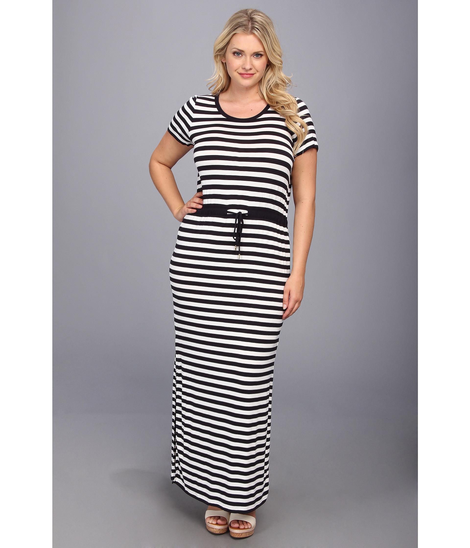 968e78bc065 Lyst - MICHAEL Michael Kors Plus Size Ss Striped Maxi Dress in Blue