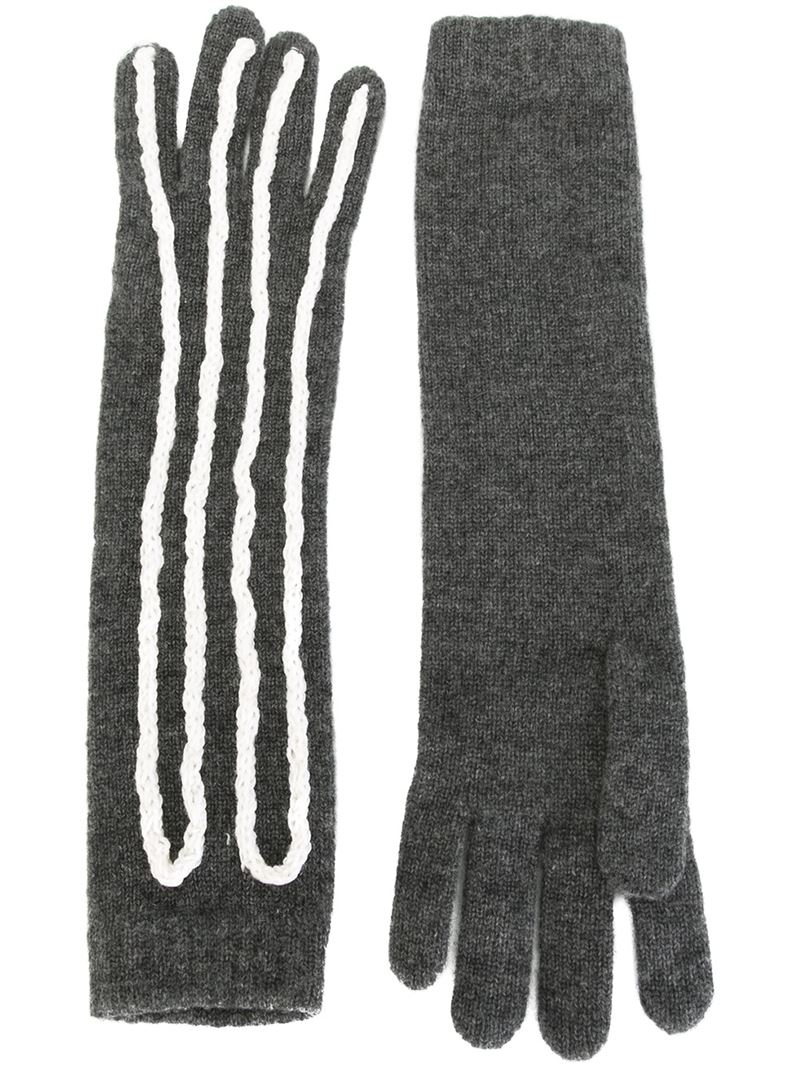 Claires black gloves - Gallery