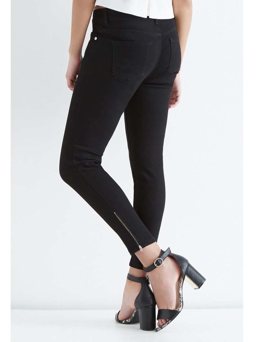 fc86591081fa Oasis Isabella Skinny Cropped Jeans in Black - Lyst