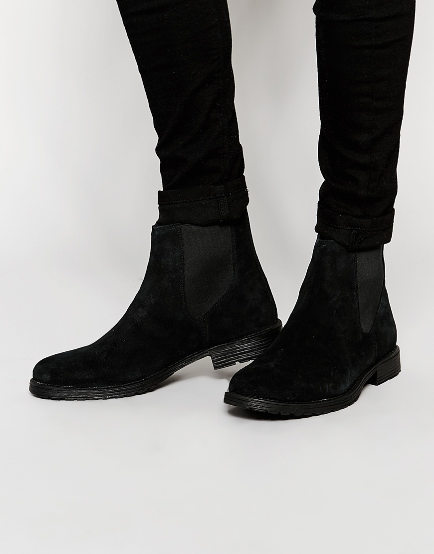 Mens Leather Soled Boots Images