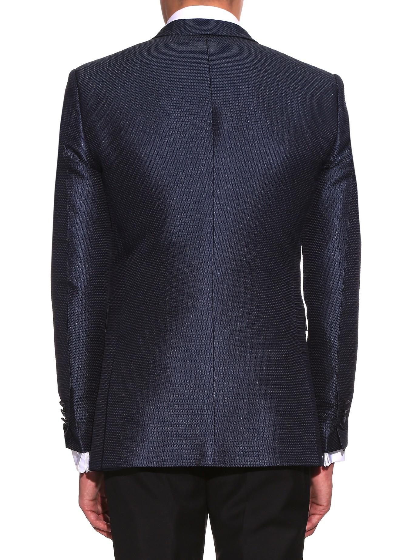 d46a9e656b2 Burberry Latham Slim-fit Blazer in Blue for Men - Lyst
