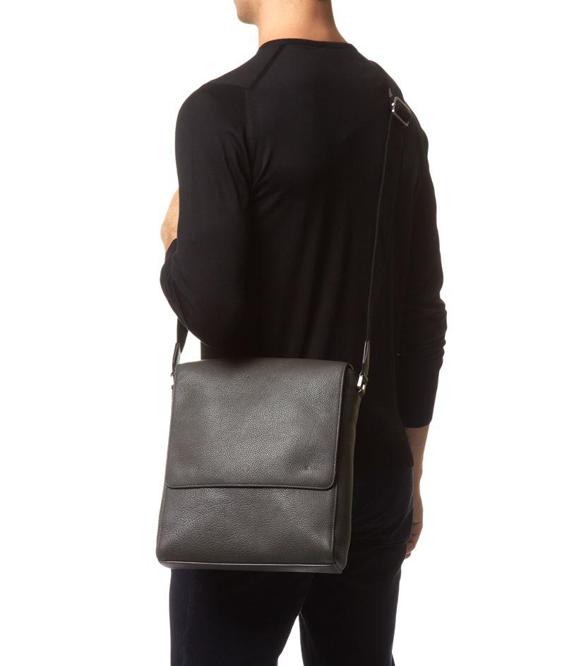 c07d4ef9139 ... order mulberry maxwell slim messenger grain leather bag in black for  men e3861 1910d