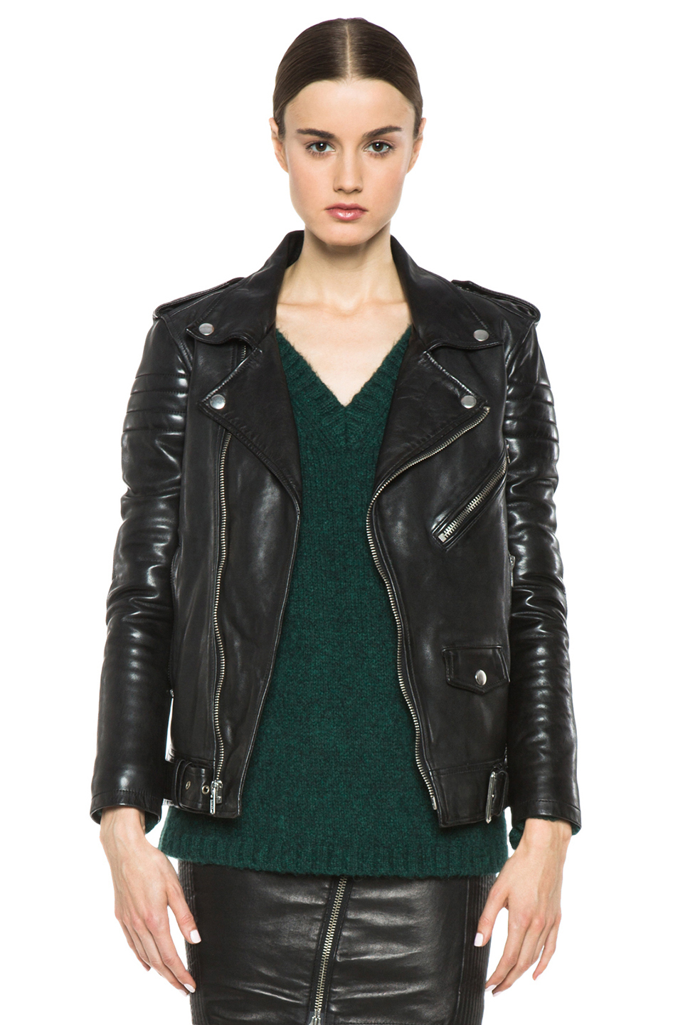 Lyst - Blk Dnm Leather Motorcycle Jacket In Black-3620