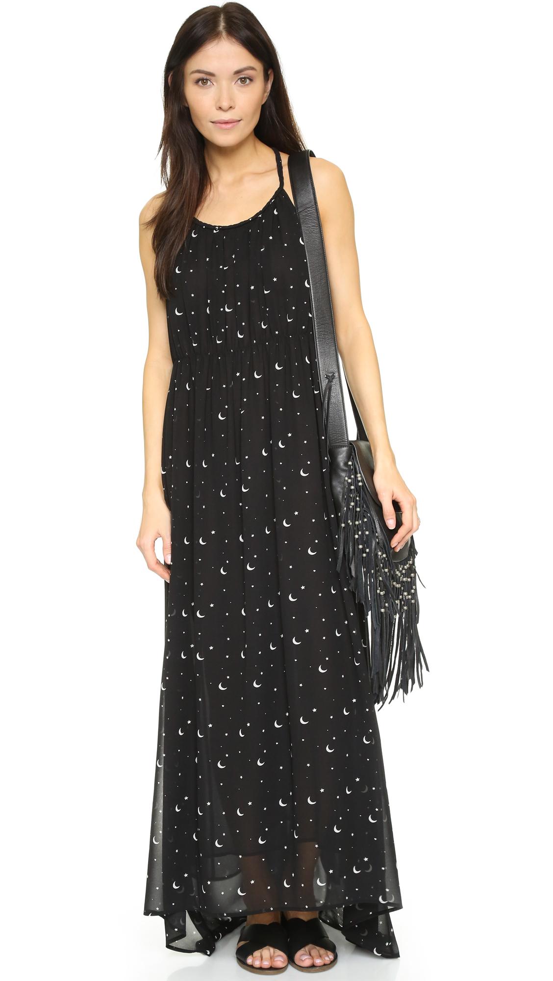Lyst - Wildfox Moon & Stars Flower Dress in Black
