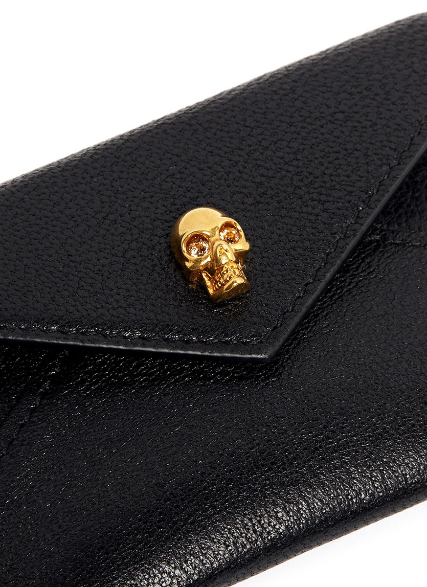 skull flap cardholder - Black Alexander McQueen Cheap Get Authentic Exclusive For Sale Discount The Cheapest Outlet Best Sale Cheap Outlet 5SsDaoxGoz