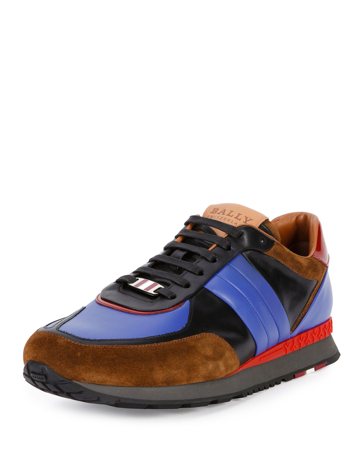 Bally Ascar Leather Sneakers in Blue for Men | Lyst