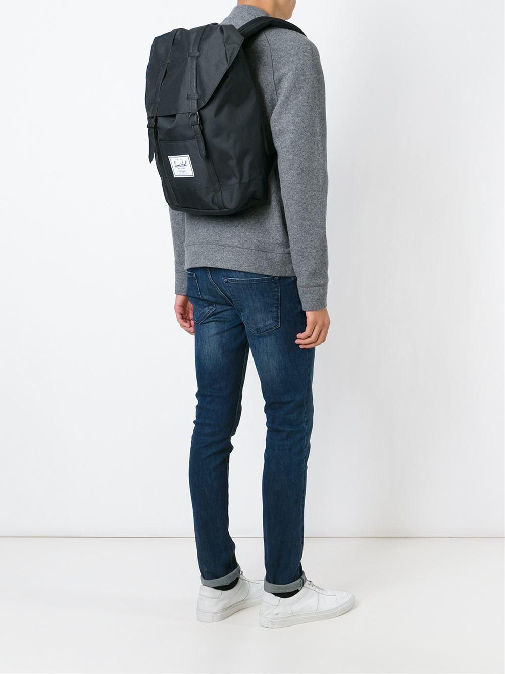 Herschel Supply Co. Retreat Backpack in Black for Men - Lyst 38c352b6a5372