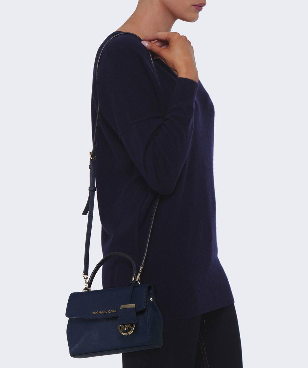 5c531ec65c0a ... inexpensive michael michael kors ava small crossbody bag in blue lyst  c880e 15717