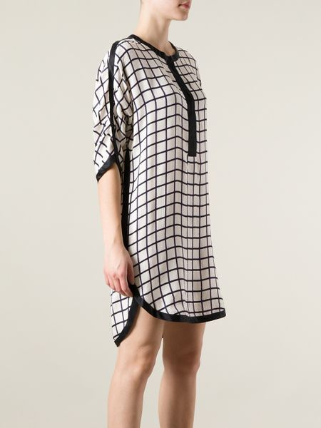Etoile Isabel Marant Odea Dress In Black White Lyst