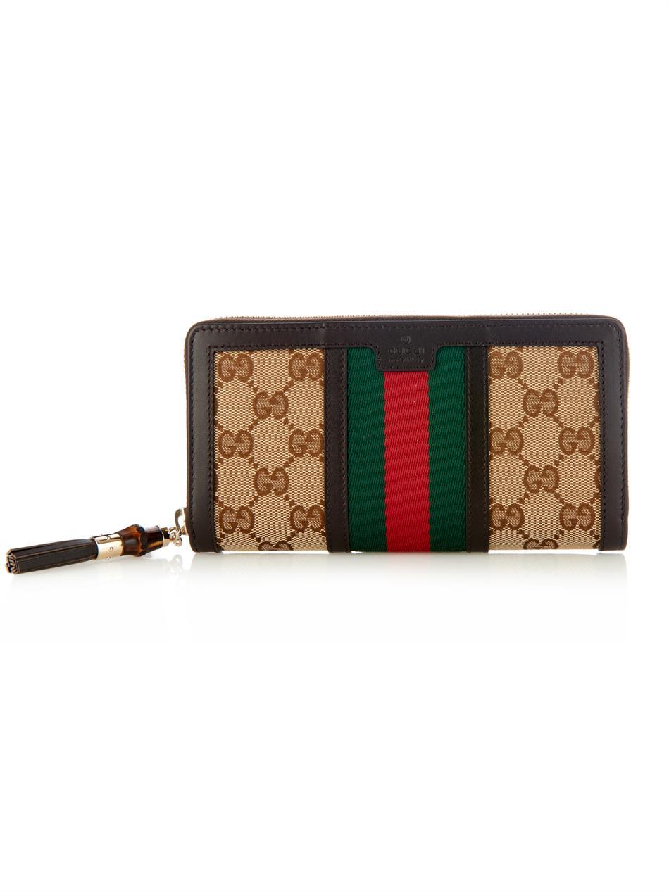 10617b84f474 Lyst - Gucci Rania Original Gg Wallet in Brown