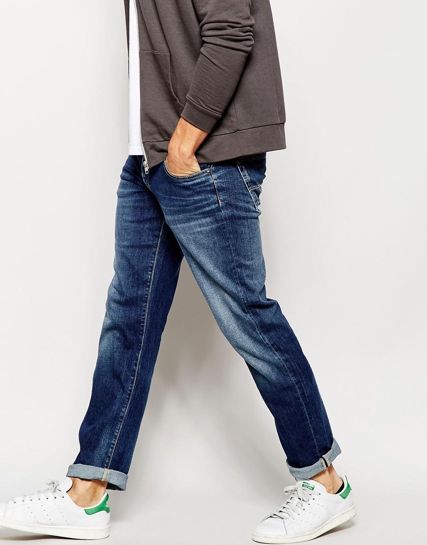 lyst pepe jeans slim fit jean cane in blue for men. Black Bedroom Furniture Sets. Home Design Ideas