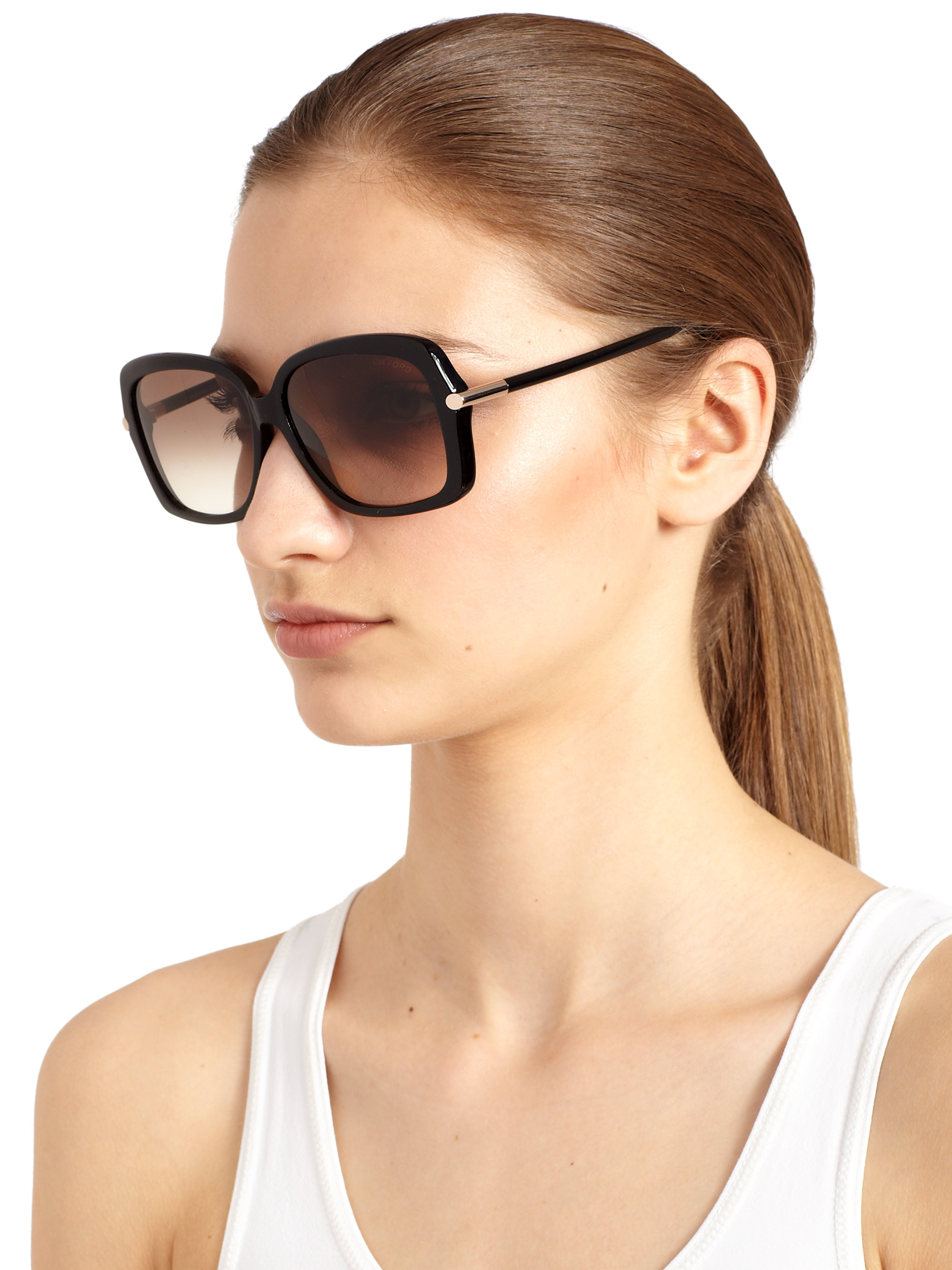 08eff9e2d1c2e Tom Ford Paloma Oversized Square Sunglasses in Black - Lyst