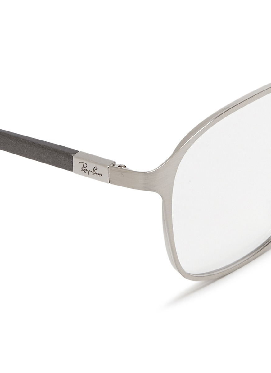 Ray Ban Square Frame Glasses : Ray-ban Square Metal Frame Optical Glasses in Metallic for ...