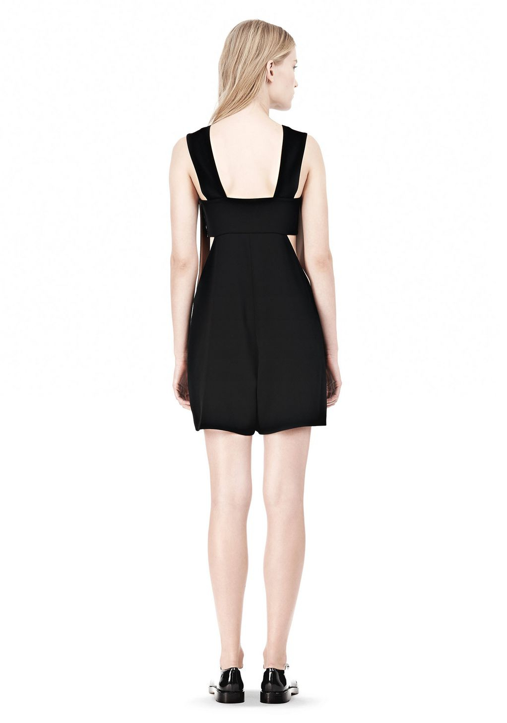 Lyst - Alexander Wang Poly Crepe Low Vneck Romper with Bandeau ... 0bf82b75b