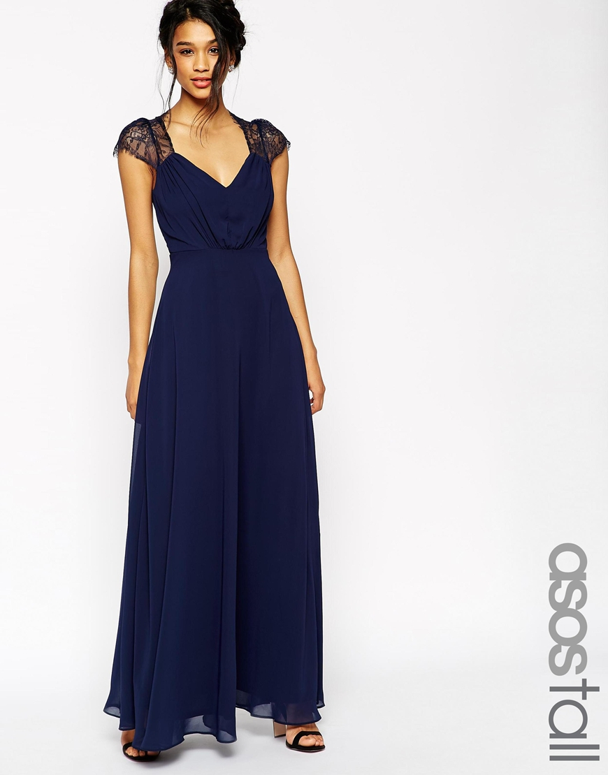 Kate Lace Midi Dress - Navy Asos Tall Recommend For Sale Buy Cheap Purchase Discount Perfect ANF6TNO