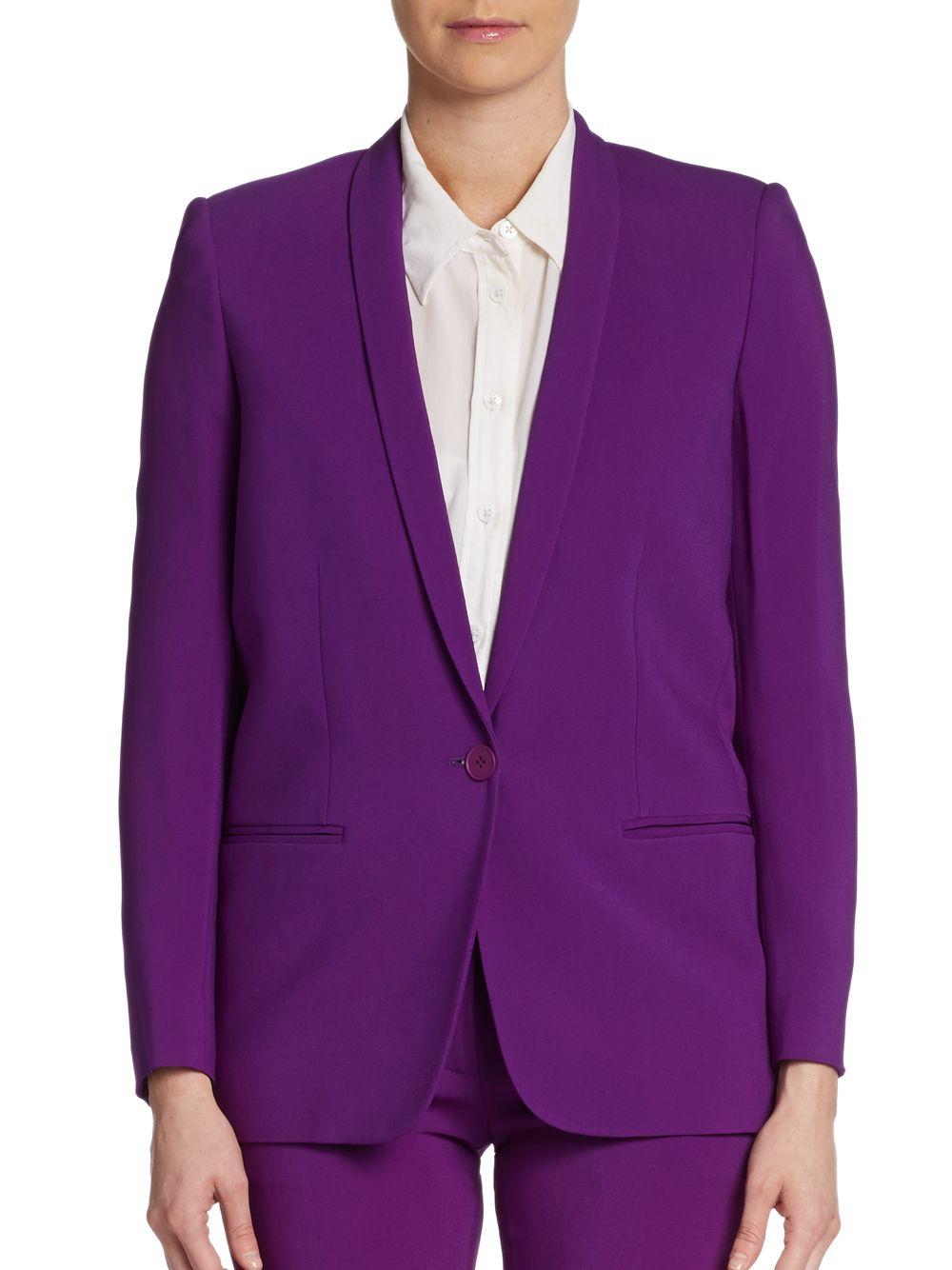 Stella mccartney Shawl Collar Suit Jacket in Purple
