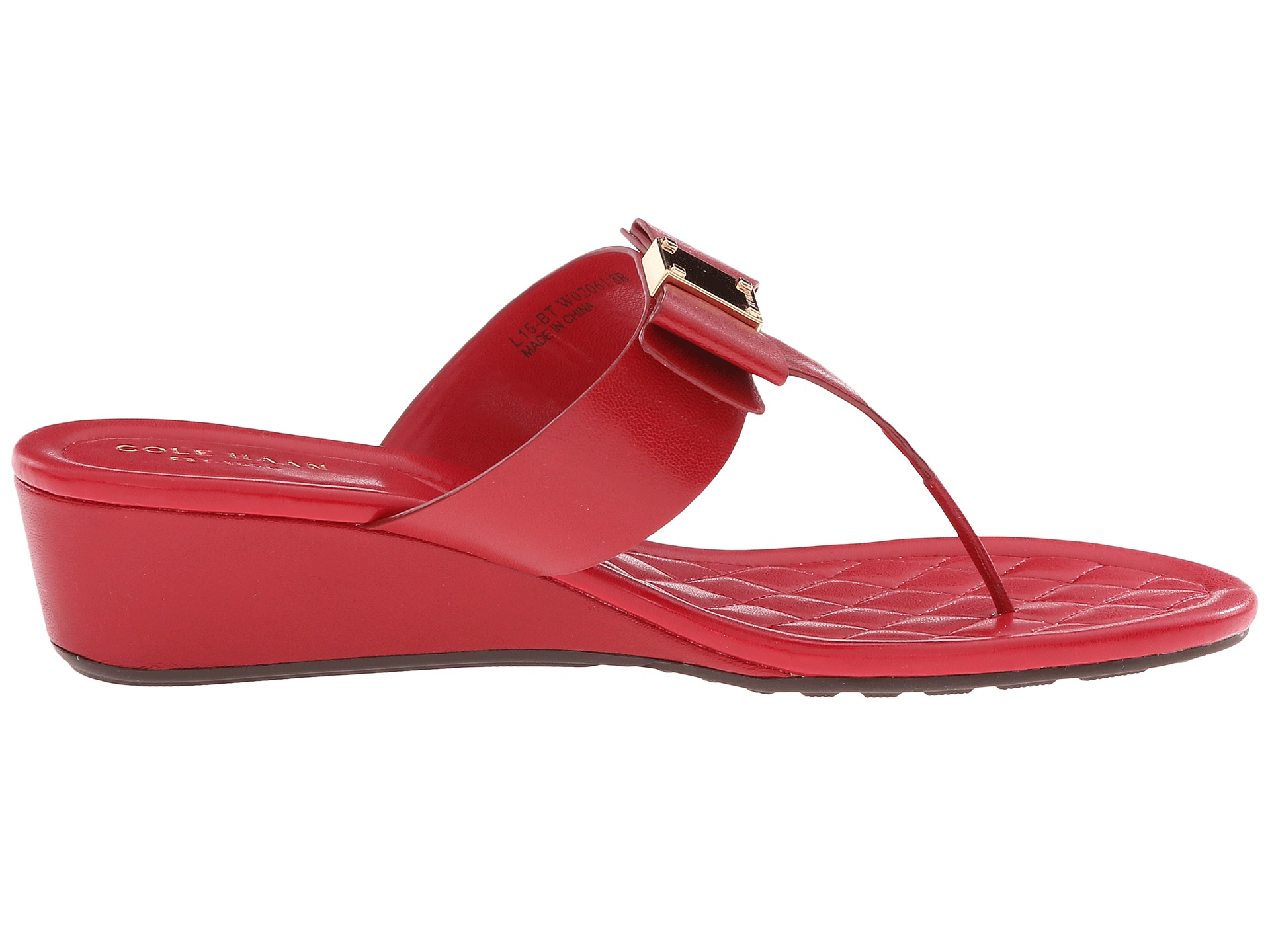 b44ae77e7245 Lyst - Cole Haan Tali Bow Sandal 40 in Red
