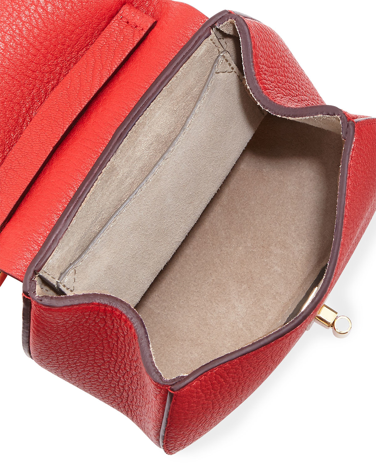 Chlo¨¦ Drew Nano Leather Saddle Bag in Red (PLAID RED)   Lyst