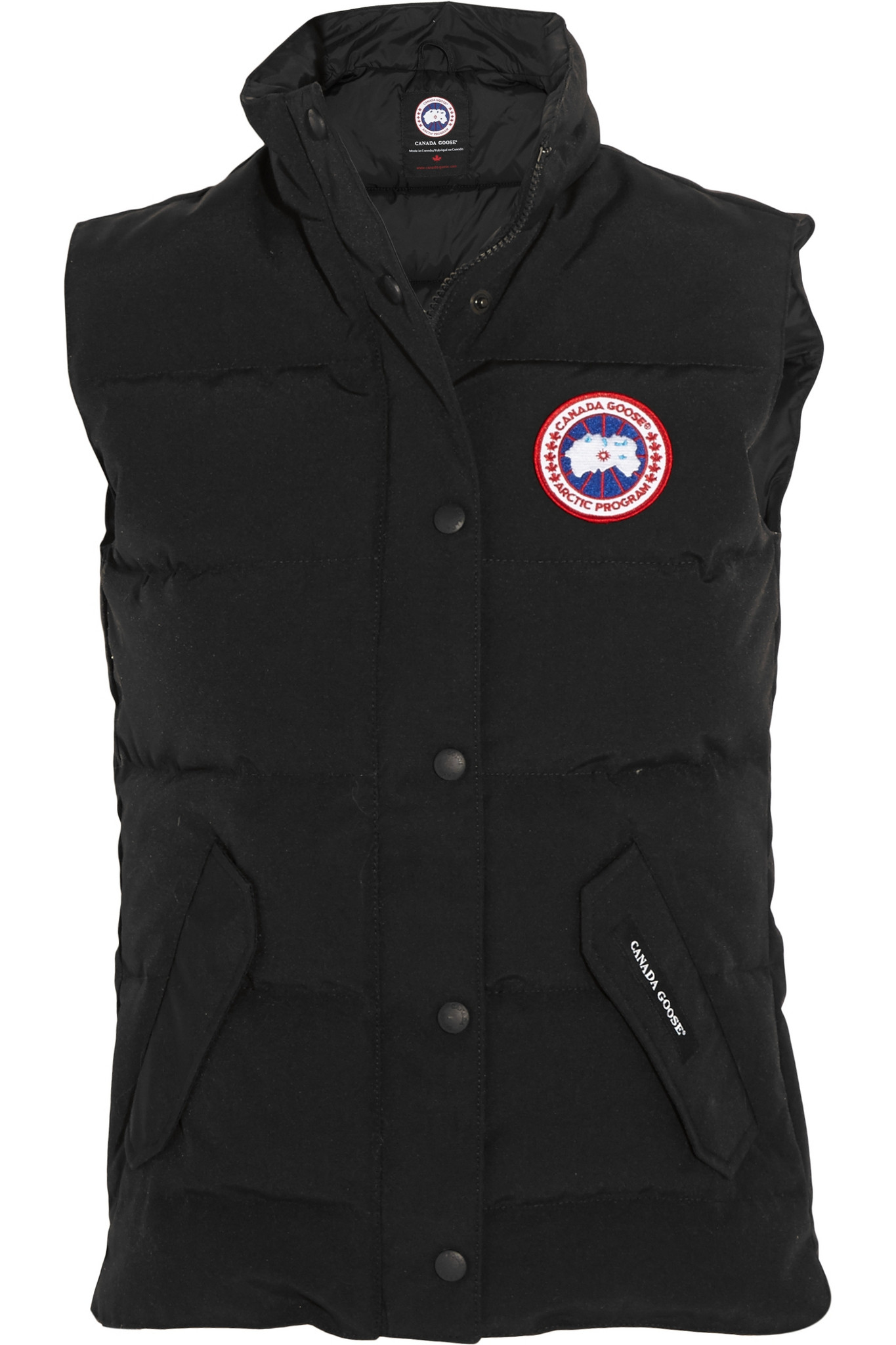 Canada Goose Freestyle Shell Twill Down Gilet In Black Lyst