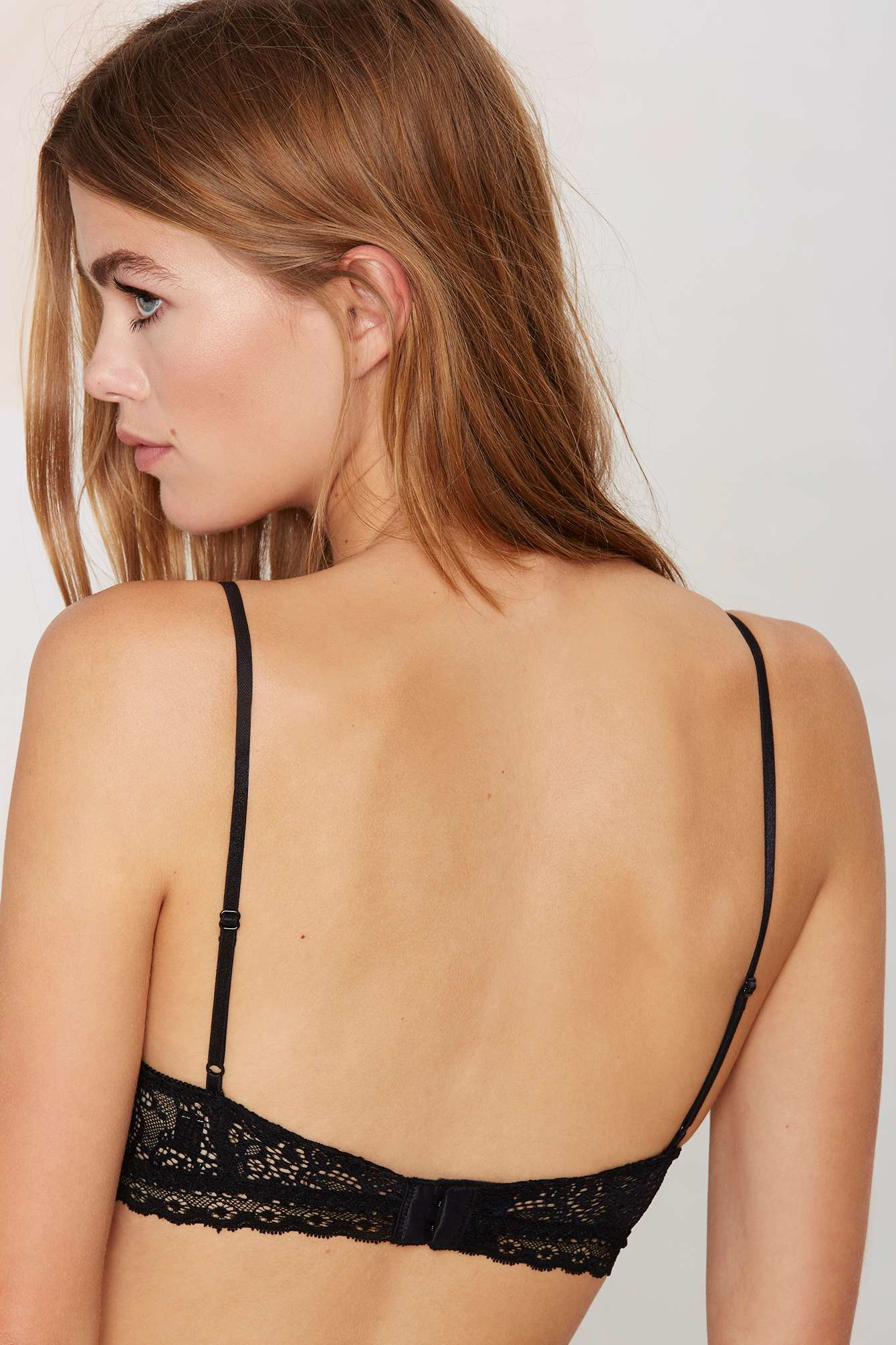 daad545dc4423d Lyst - Nasty Gal Josephine Lace Bralette in Black