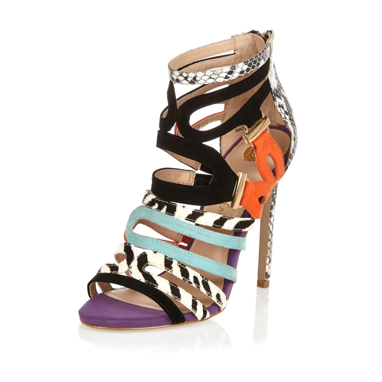 Black Strappy Stiletto Heels