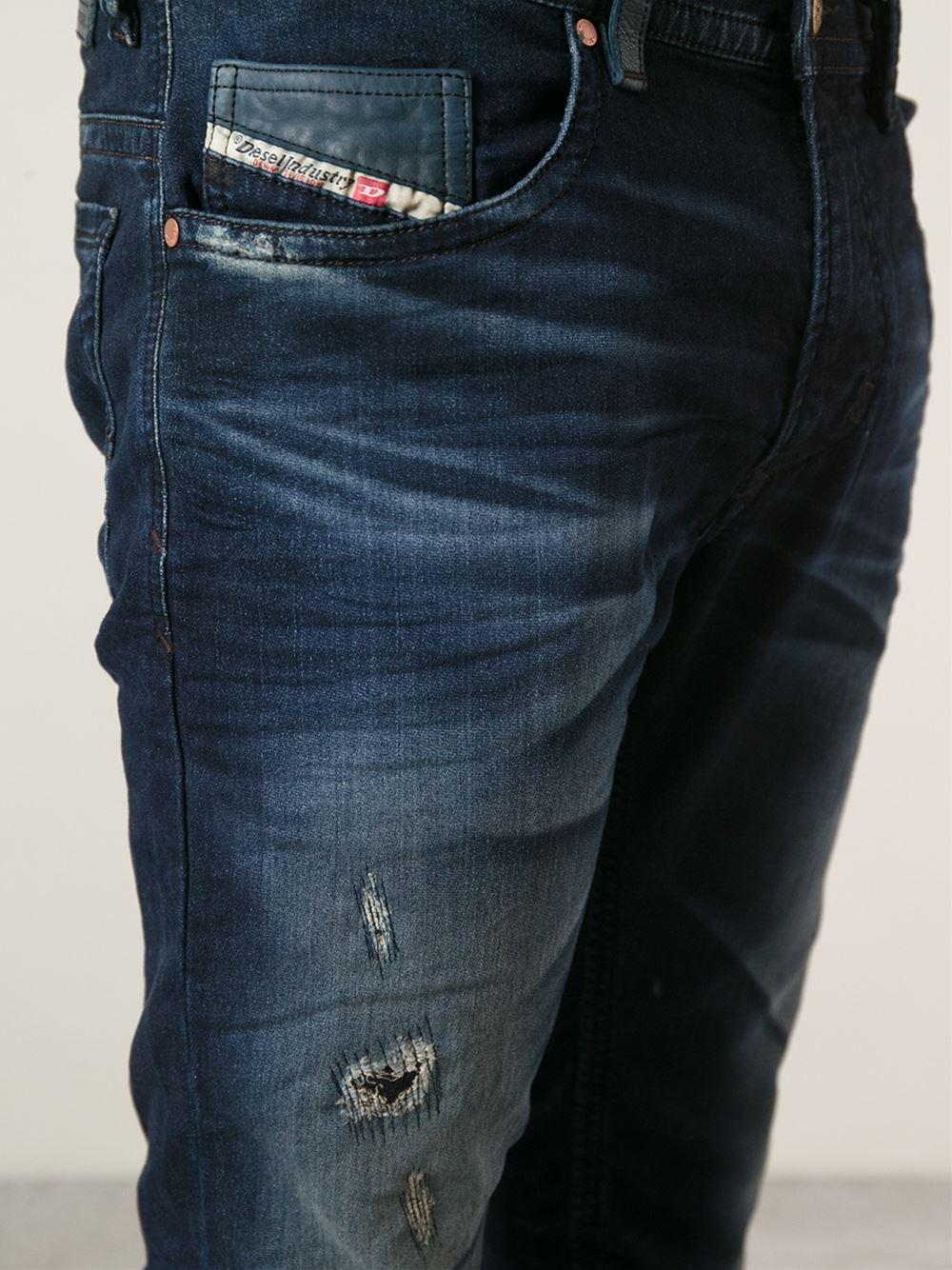 b23d7694 DIESEL 'Thavar' Slim Fit Jeans in Blue for Men - Lyst
