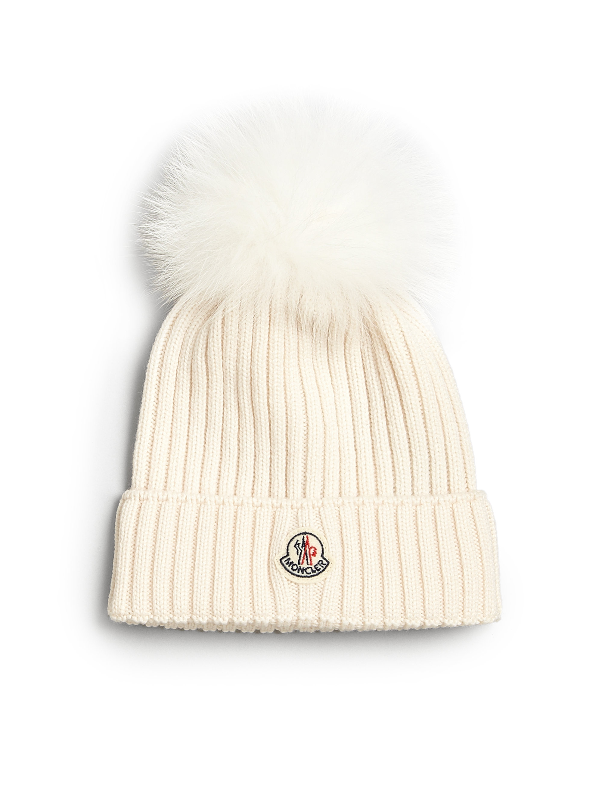 Moncler Toddlers Little Girls Fur Trimmed Wool Hat In