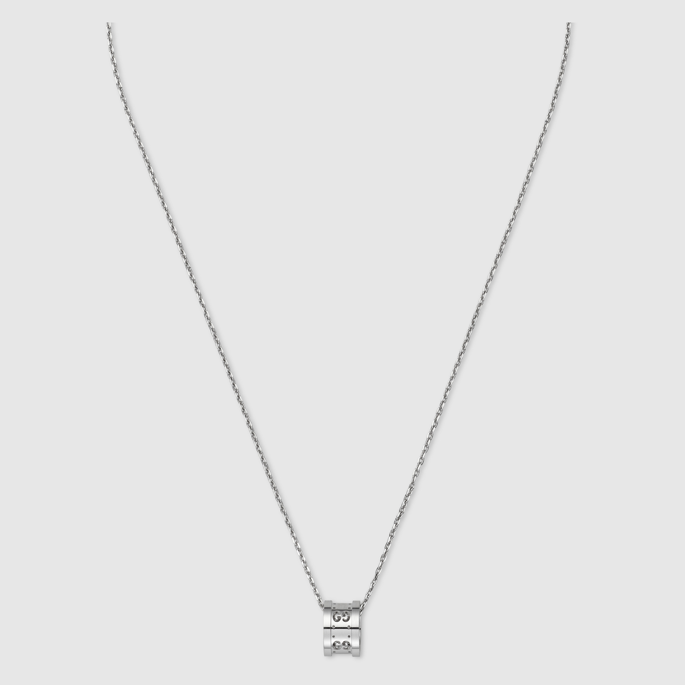 Gucci Icon necklace in white gold GwRE41iwW