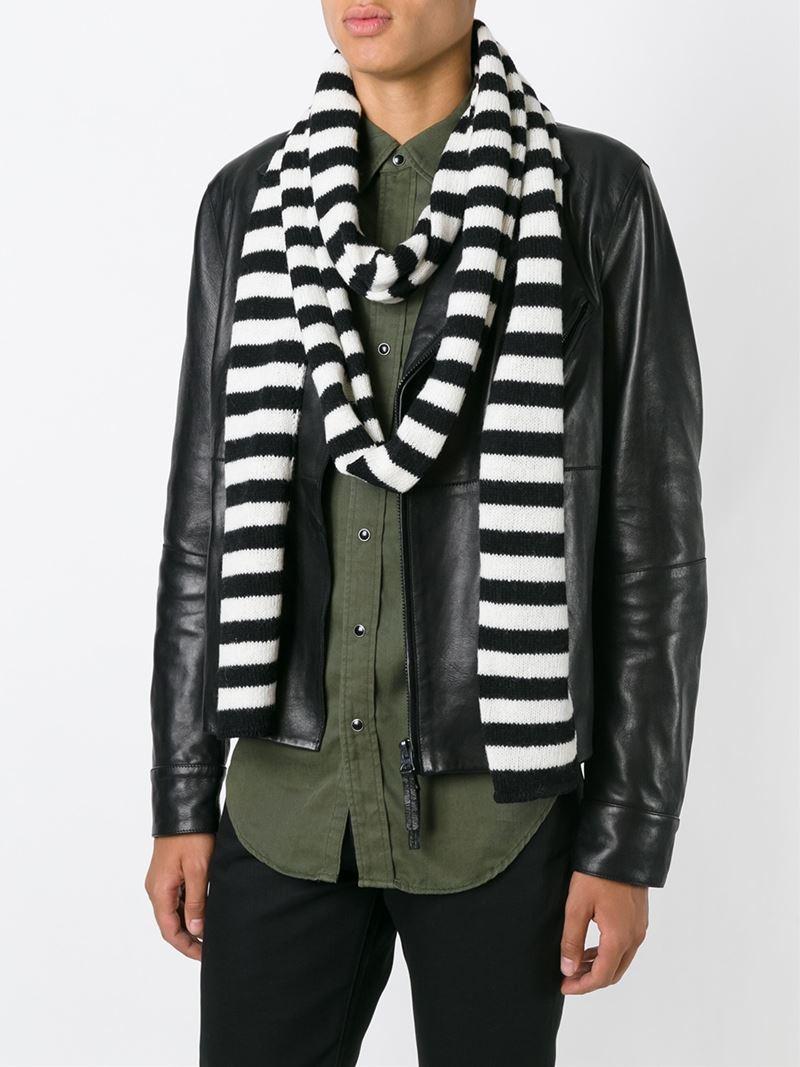 striped scarf Saint Laurent tXiNAC