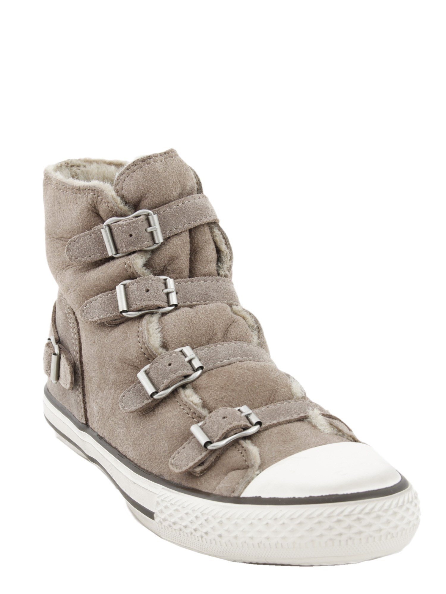 ash virginy high top sneakers in beige lyst. Black Bedroom Furniture Sets. Home Design Ideas