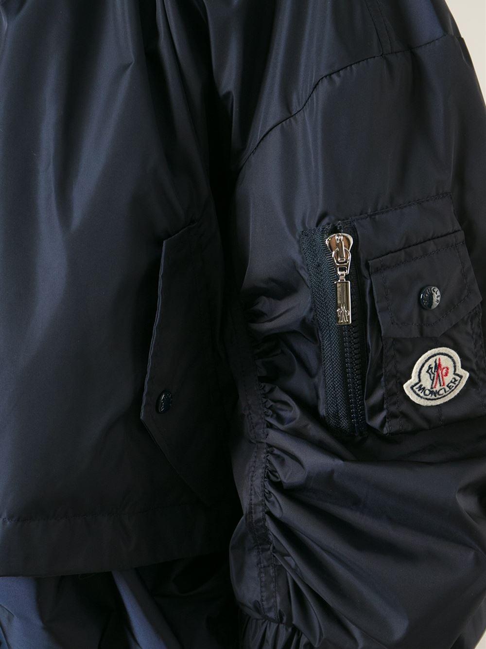 moncler blue bomber jacket